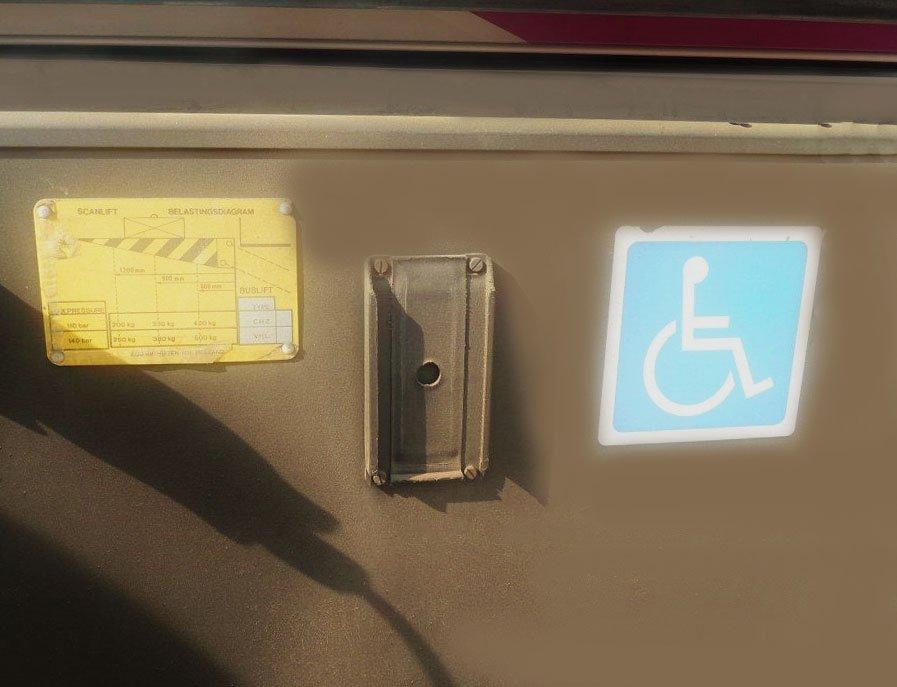 Обозначения в салоне автобуса