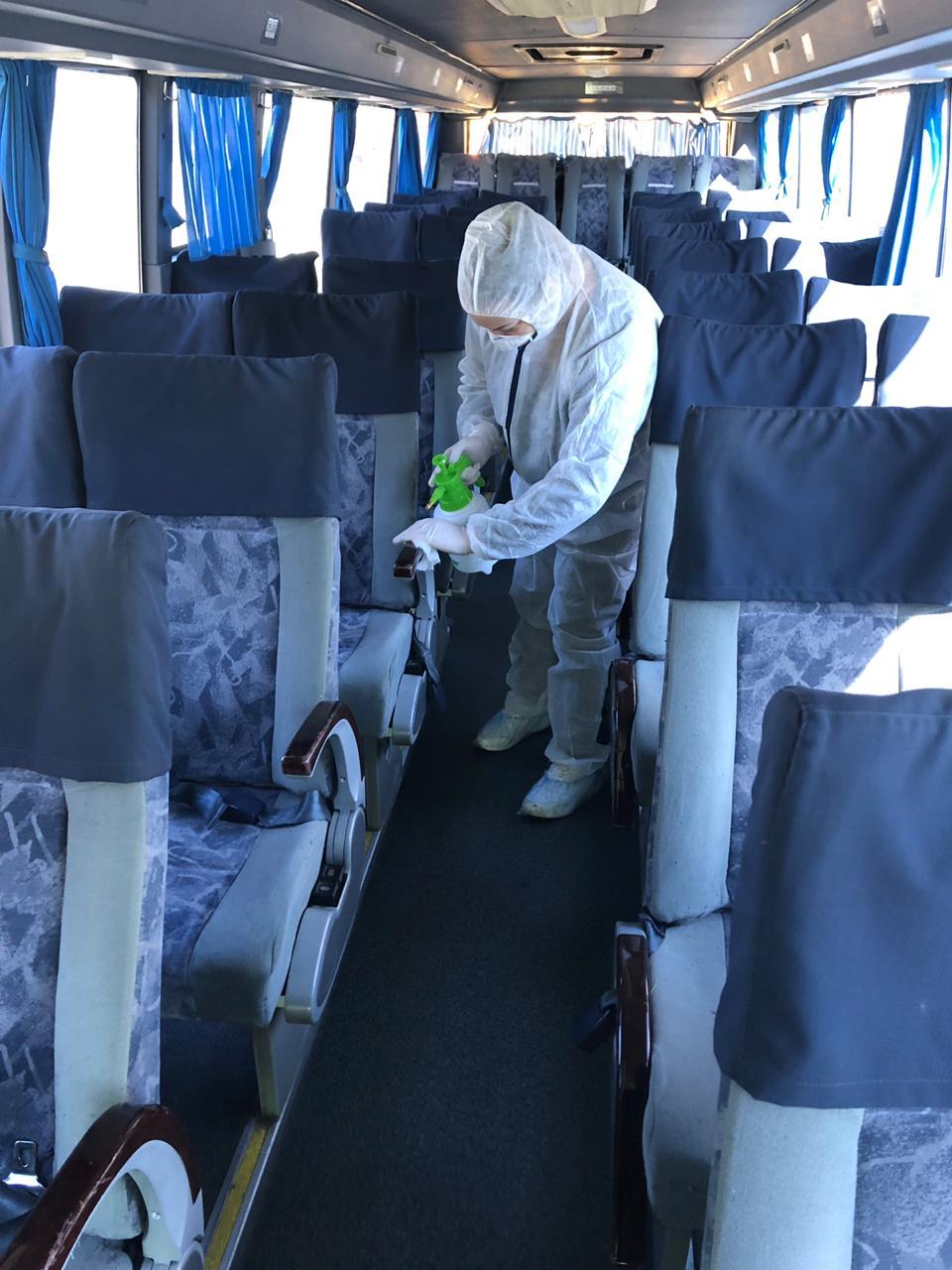 4 - Дезинфекция автобусов
