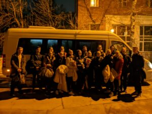Микроавтобус для участников «Чемпионата и первенства России по танцевальному спорту»